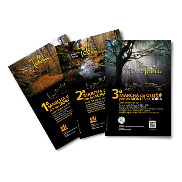 Carteles: Marcha de Otoño por los Bosques de Tobía