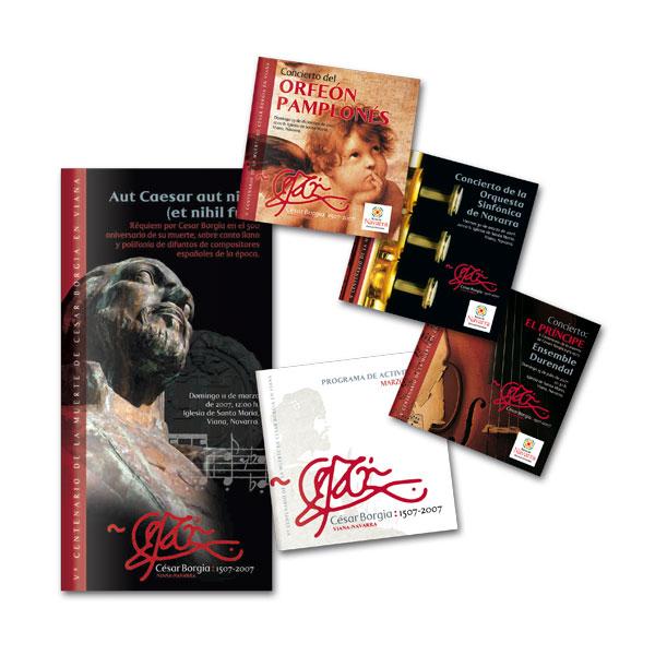 Impresos publicitarios: Programas César Borgia