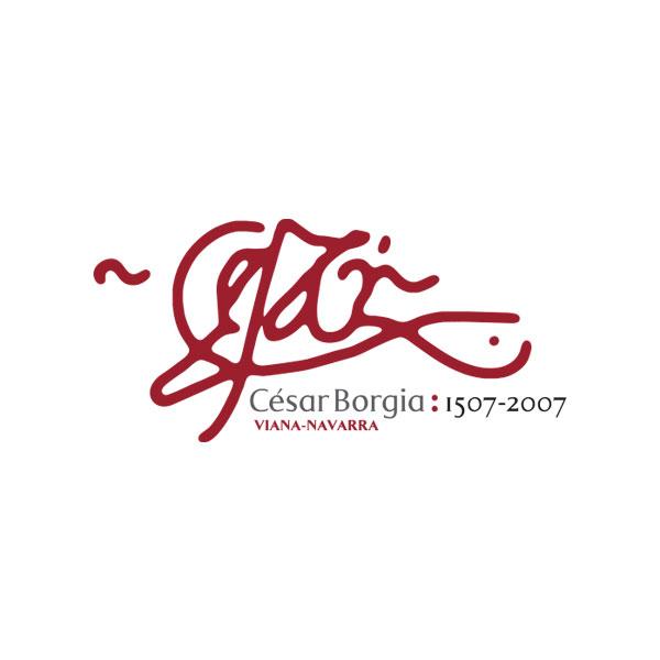 Logosímbolo del Quinto centenario de la muerte de César Borgia en Viana, Navarra.