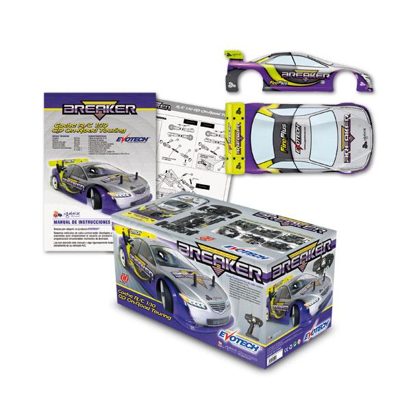 Packaging: Juguetecas, carrocería, caja e instrucciones para coche RC