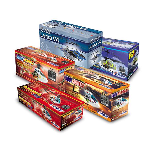 Packaging: Juguetecas, cajas para helicópteros RC