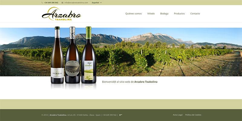 Sitio web: Bodegas Arzabro