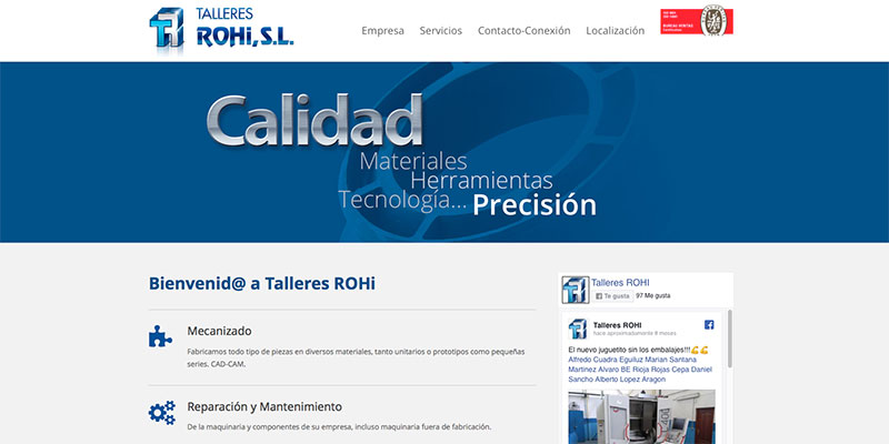 Sitio web: Talleres Rohi