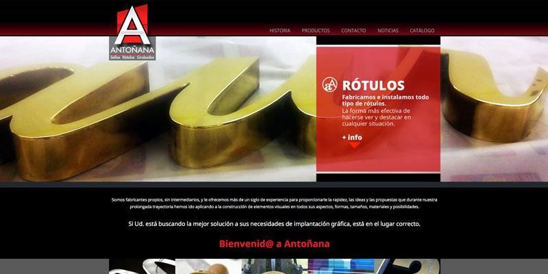 Sitio web: Rótulos Antoñana