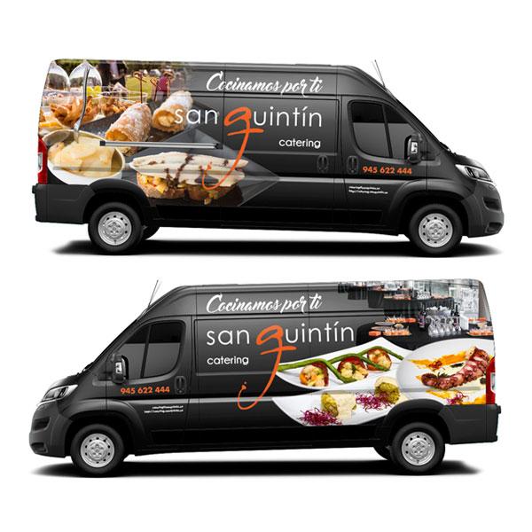 Rotulación: Vehículo catering San Quintín